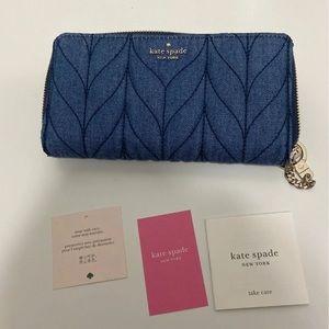 Kate Spade Neda Briar Lane Quilted Denim Wallet